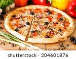supreme pizza | Shutterstock . vector #204601876