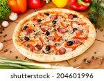 supreme pizza | Shutterstock . vector #204601996
