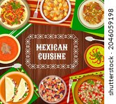 mexican cuisine food dishes ... | Shutterstock .eps vector #2046059198