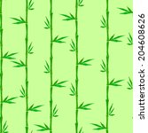 bamboo seamless background.... | Shutterstock .eps vector #204608626