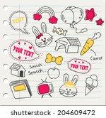 various stuff in doodle style | Shutterstock .eps vector #204609472