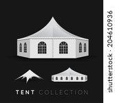 set of tents. vector... | Shutterstock .eps vector #204610936
