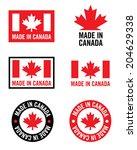 Vector 'made In Canada' Logo Set