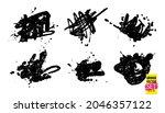 grunge quirky scribbles set....   Shutterstock .eps vector #2046357122