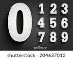 stylish white squared shabby... | Shutterstock .eps vector #204637012