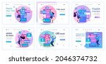 collection of landing pages....   Shutterstock .eps vector #2046374732