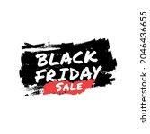 black friday sale brush banner. ... | Shutterstock .eps vector #2046436655