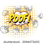 comic speech bubble with poof... | Shutterstock .eps vector #2046472652