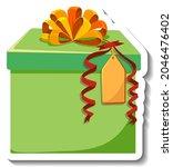isolated gift box sticker... | Shutterstock .eps vector #2046476402
