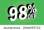 sale tag 98 percent off   3d... | Shutterstock .eps vector #2046495722