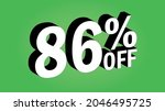 sale tag 86 percent off   3d... | Shutterstock .eps vector #2046495725