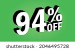 sale tag 94 percent off   3d... | Shutterstock .eps vector #2046495728