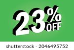 sale tag 23 percent off   3d... | Shutterstock .eps vector #2046495752