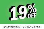 sale tag 19 percent off   3d... | Shutterstock .eps vector #2046495755
