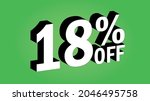 sale tag 18 percent off   3d... | Shutterstock .eps vector #2046495758