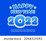 vector greeting card happy new... | Shutterstock .eps vector #2046519392