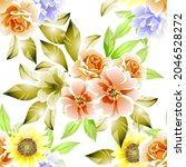 invitation greeting card with... | Shutterstock .eps vector #2046528272