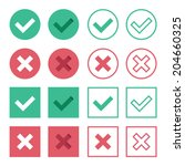 vector set of flat design check ...