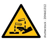 warning sign  beware corrosives | Shutterstock .eps vector #204661312