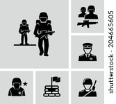 soldiers  | Shutterstock .eps vector #204665605