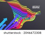 colorful arrows that extend in...   Shutterstock .eps vector #2046672308