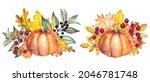 autumn arrangements with...   Shutterstock . vector #2046781748