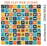 collection of flat design web...