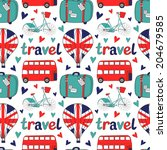 beauty seamless pattern with... | Shutterstock .eps vector #204679585