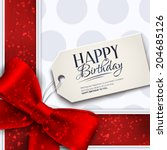 Vector Birthday Card With Red...