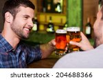 friday night out. two cheerful... | Shutterstock . vector #204688366