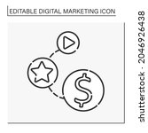 viral marketing line icon.... | Shutterstock .eps vector #2046926438