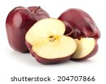 red apples isolated on white... | Shutterstock . vector #204707866