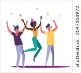 birthday party set vector... | Shutterstock .eps vector #2047103972