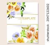 romantic wedding invitation... | Shutterstock .eps vector #2047122602