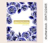 romantic wedding invitation... | Shutterstock .eps vector #2047122605
