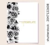 romantic wedding invitation... | Shutterstock .eps vector #2047122608