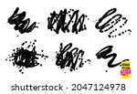 grunge quirky scribbles set....   Shutterstock .eps vector #2047124978