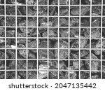 distress metal cage with coal...   Shutterstock .eps vector #2047135442