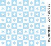 seamless white and blue stars...   Shutterstock .eps vector #2047157192