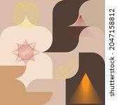 aesthetic geometric brochures . ...   Shutterstock .eps vector #2047158812