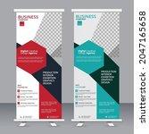 business rool up modern banner  ... | Shutterstock .eps vector #2047165658