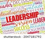 leadership word cloud collage ... | Shutterstock .eps vector #2047181792