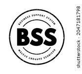 bss   business support system... | Shutterstock .eps vector #2047181798