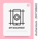 mobile app development thin... | Shutterstock .eps vector #2047188602