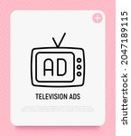 television advertising thin... | Shutterstock .eps vector #2047189115