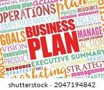 business plan word cloud... | Shutterstock .eps vector #2047194842