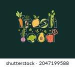word fresh food full of... | Shutterstock .eps vector #2047199588