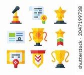 simple set reward badges vector ...