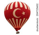 turkish hot air striped balloon ... | Shutterstock . vector #204725602