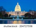 Stock photo us capitol building at dusk washington dc usa 204727558